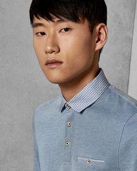 Ted Baker - Geo Collar Polo Shirt - Lyst