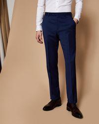 Ted Baker - Slim Fit Plain Wool Suit Trousers - Lyst