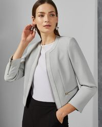 63f2cd89b Ted Baker Peptale Cropped Jacket in Pink - Lyst