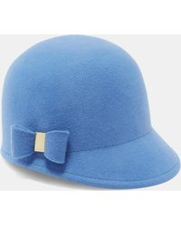 Ted Baker Faux Fur Pom-pom Hat in Gray - Lyst 31e8c767ef90