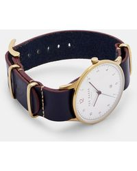 Ted Baker - Stab Stitch Leather Strap Watch - Lyst