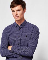 Ted Baker - Geo Print Shirt - Lyst