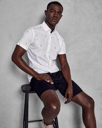 Ted Baker - Fil-coupé Football Motif Shirt - Lyst