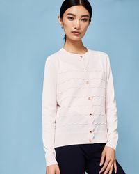 Ted Baker - Scalloped Detail Cardigan - Lyst
