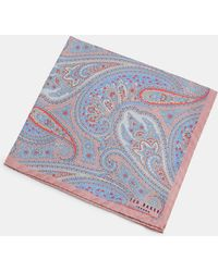 Ted Baker - Silk Paisley Pocket Square - Lyst