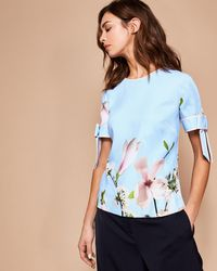 Ted Baker - Harmony Bow Detail Top - Lyst