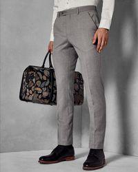 Ted Baker - Debonair Skinny Wool Suit Trousers - Lyst