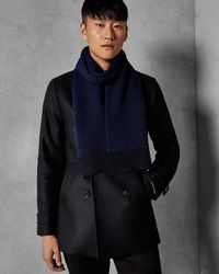 Ted Baker - Patterned Knitted Scarf - Lyst