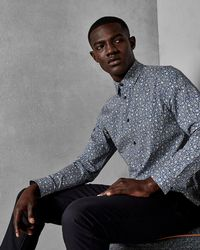 Ted Baker - Sunflower Print Cotton Shirt - Lyst