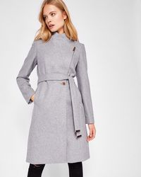 Ted Baker - Wool-cashmere Wrap Coat - Lyst