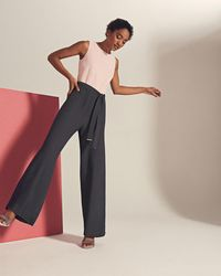 Ted Baker | Afu Colour-block Belted Jumpsuit | Lyst