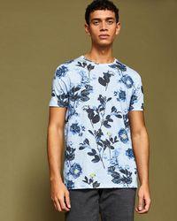 Ted Baker - Doberma Floral Print T-shirt - Lyst