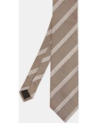 Ted Baker - Textured Striped Silk Tie - Lyst