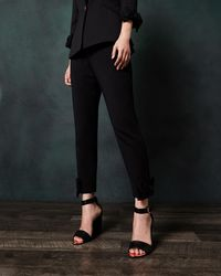 8e4362dbdc992 ... Ted Baker - Bow Cuff Ankle Grazer Trousers - Lyst arrives 426c7 8e03f  Ted  Baker Womens ...