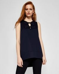 Ted Baker - Double Bow Front A-line Top - Lyst