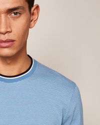 Ted Baker - Striped Rib Detail Cotton Jumper - Lyst