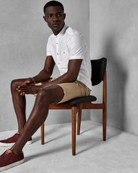 Ted Baker - Football Geo Print Cotton Shorts - Lyst