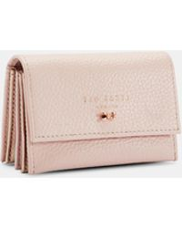Ted Baker - Textured Leather Concertina Credit Card Holder - Lyst