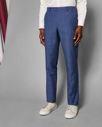 Ted Baker - Slim Linen Suit Trousers - Lyst