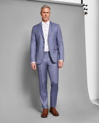 b41b55067 Ted Baker - Debonair Plain Wool Suit Pants - Lyst
