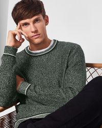 Ted Baker - Plaited Rib Crew Neck Jumper - Lyst