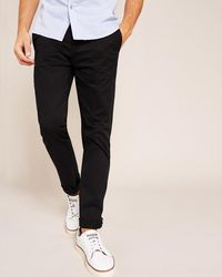 Ted Baker - Tapered Fit Cotton Chinos - Lyst