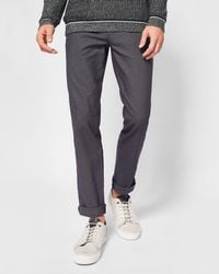 Ted Baker - Slim Fit Textured Chinos - Lyst