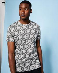 Ted Baker - Hexagon Print T-shirt - Lyst