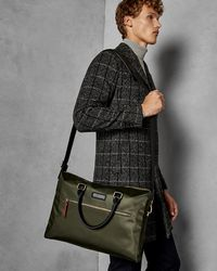 4e67205527a9f Ted Baker Contrast Handle Document Bag in Gray for Men - Lyst