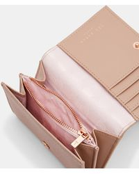 Ted Baker - Statement Letters Mini Leather Purse - Lyst