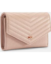Ted Baker Quilted Envelope Leather Purse