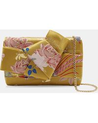 Ted Baker - Chinoiserie Jacquard Knot Cross Body Bag - Lyst