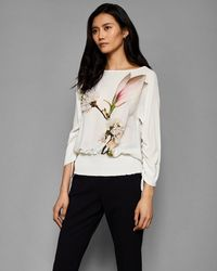 Ted Baker - Harmony Embellished Sheared Sleeve Top - Lyst