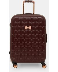 349904d710 Ted Baker Bow Detail Large Suitcase in Black - Lyst