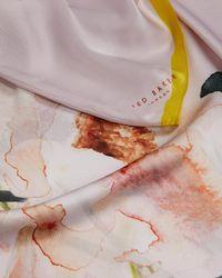 Ted Baker - Emellia Elegant Floral Silk Cape Scarf - Lyst