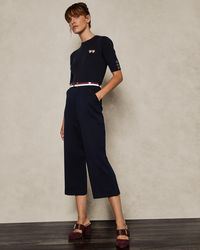 Ted Baker - Knit Woven Jumpsuit - Lyst