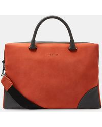 1f4593b8f899a Lyst - Ted Baker Top Handle Document Bag in Blue for Men