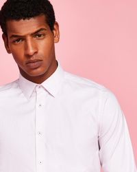 Ted Baker - Woven Striped Cotton Shirt - Lyst