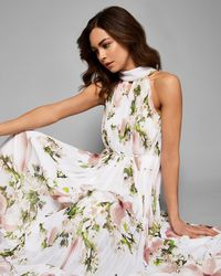 Ted Baker - Harmony Pleated Maxi Dress - Lyst