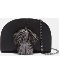 Ted Baker - Leather Pom-pom Cross Body Bag - Lyst
