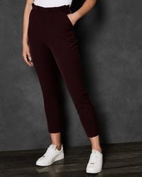 Ted Baker - Gathered Waist Skinny Trousers - Lyst