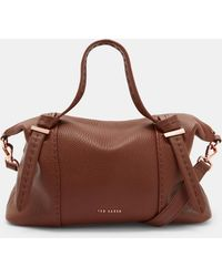 1ff6d2c981 Ted Baker - Knotted Handle Small Leather Tote Bag - Lyst