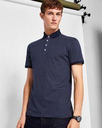 Ted Baker | Men's Boxer Geo Print Polo Shirt | Lyst