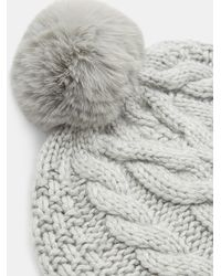 Ted Baker - Quirsa Cable Knit Pom Hat - Lyst
