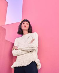 Ted Baker - Fringed Cable Knit Jumper - Lyst