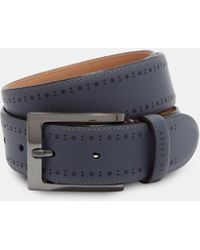 Ted Baker - Brogue Detail Leather Belt - Lyst