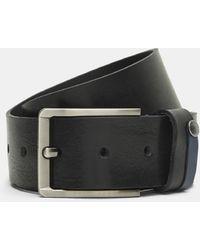 Ted Baker - Contrast Detail Leather Belt - Lyst