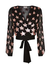 Temperley London - Sequin Embroidered Star Blouse - Lyst