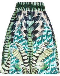 Temperley London - Garden Leaf Printed Shorts - Lyst