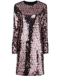 McQ - Sequin Glitter Short Dress - Lyst